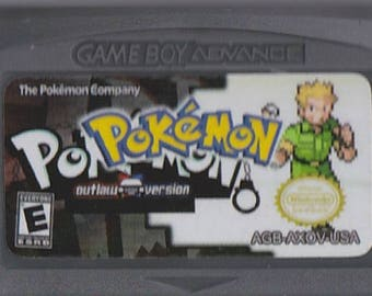 Gameboy Advance Game Boy GBA Pokemon Outlaw Customized