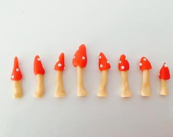 Mini mushroom terrarium - deco 8pcs - mushroom - terrarium