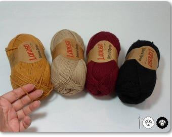Mixed colors Natural Merino by Lanoso 400g 4 skeins Woolen yarn Soft and tender yarn Winter yarn Autumn yarn Soft and tender yarn