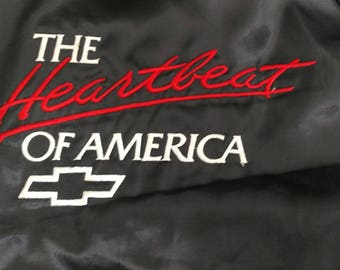 1990s vintage Chevy Chevrolet The heartbeat of America Camaro corvette pickup jacket