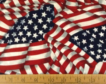Stars and stripes cotton fabric by the yard