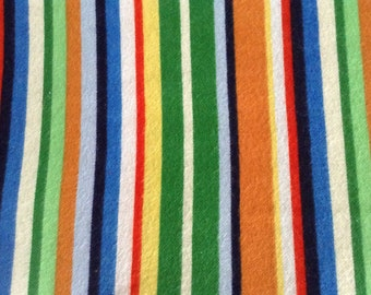Flannel/Colorful stripes cotton fabric by the yard