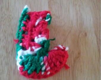 mistletoe Christmas stocking
