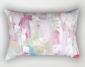 Pink ABSTRACT Pillows, art pillows - Includes insert  and zipper - Enjoy Free shipping