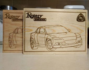 Mazda RX-8 Wood Engraving