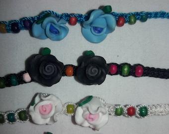 Flowers & Beads Friendship Bracelet