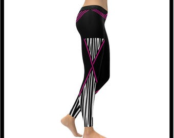 The Criss Crossed Zebra Low Rise Leggings