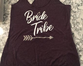 Bride tribe racer back tank