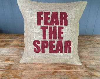 Fear The Spear, Florida State University, FSU, Florida State Pillow, Hayy Valley, Warriors , University Pillow