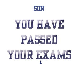 Passing Exams Son