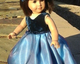 sleeveless ball gown for 18 inch doll