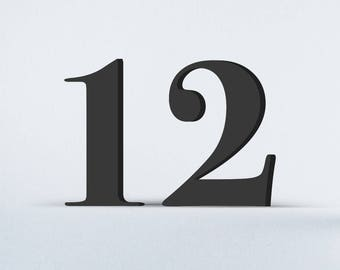 Flat Cut Acrylic House Numbers - Bodoni Bold