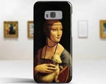 "Leonardo Da Vinci, ""Lady with an Ermine"". Samsung S8 Case, Samsung S7 Case, Samsung S6 Case, Huawei, LG, Google Pixel Cases. Art phone cases"