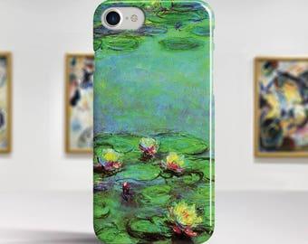 "Claude Monet, ""Water Lilies"". iPhone 7 Case Art iPhone 6 Case iPhone 8 Plus Case and more. iPhone 7 TOUGH cases. Art iphone cases."