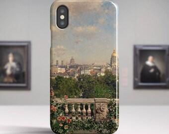 """Martin Rico Ortega, """"View of Paris"""". iPhone X Case Art iPhone 8 Case iPhone 7 Plus Case and more. iPhone X TOUGH cases. Art iphone cases."""