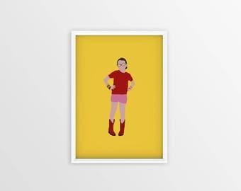 Little Miss Sunshine Poster Minimalist - A3 A4 Digital - Free shipping