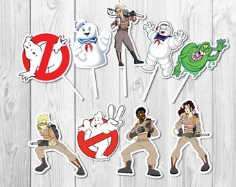 Ghostbusters Cupcake Toppers, Ghostbusters Printable, Ghostbusters Party, Ghostbusters Cake Topper, Ghostbusters Birthday Party | GS_FULL