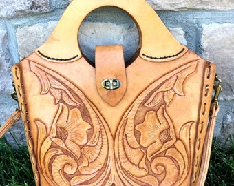 Embossed Vintage Authentic Leather Bag