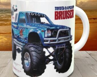 Bruiser Coffee Mug with optional Keychain, gift for RC lover, RC Car Coffee Mug, Gift for Him, Radio Controlled Car Mug, RC car gift