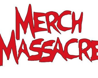 Merch Massacre Logo Halloween Horror Vinyl Car Decal Bumper Window Sticker Any Color Multiple Sizes