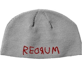 Redrum The Shining Stephen King Murder Beanie Knitted Hat Cap Winter Clothes Horror Merch Massacre Christmas Black Friday