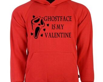 Scream Ghostface Killer Slasher Valentine's Day Unisex Hoodie Pullover Sweatshirt Sizes Colors Custom Horror Halloween Merch Massacre