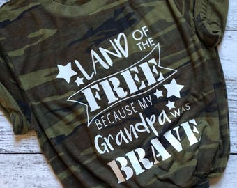 Land Of The Free Shirt / Veteran's Day Shirt / Patriotic Shirt / Independence Day Shirt / Gifts For Her / Graphic Tee / Graphic T-Shirt /