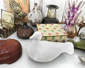 70s Ceramic dove/70s white Ceramic Dove