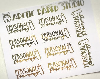 Personal Training - FOILED Sampler Event Icons Planner Stickers
