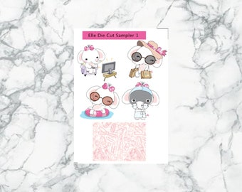 Elle the Elephant Die Cuts, planners