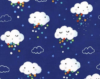 FREE GIFT with Purchase - Michael Miller Pitter Patter/Showery/Blue/Cotton/Fabric/Sewing/Quilting