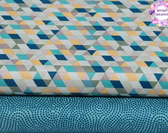 FREE GIFT with Purchase - Riley Blake Ava Rose/Geometric Multi/Blue/Cotton/ Fabrics/ Sewing/ Quilting/ Quilt