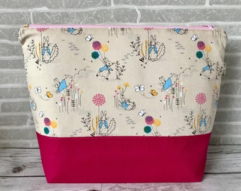 Ewe: Pinky Peter Rabbit - Medium sized project bag for Knitting/Crochet