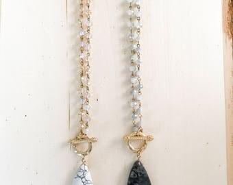 Drea Precious Stone & Beaded Necklace