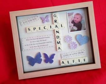 SPECIAL GRANDMA or NANA Personalised Frame Picture keepsake
