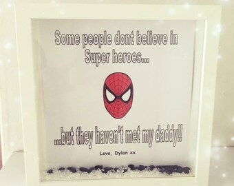 Dad gift, superhero frame, superhero gift, gift for dad, father frame, dad frame, daddy frame, frame for daddy