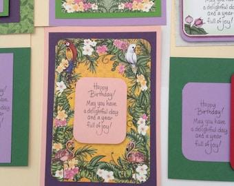 6 handmade Birthday Cards
