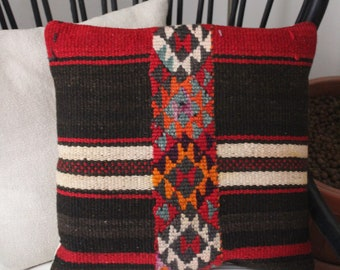 Vintage Syrian Kilim Pillowcase