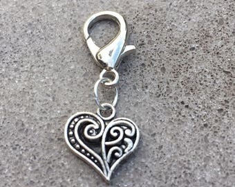Silver Heart Bridle Charm
