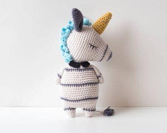 Crochet pattern Unicorn Zebra Amigurumi, Amigurumi pattern Unicorn Zebra,crochet Unicorn, Crochet Zebra, digital PDF crochet pattern Unicorn