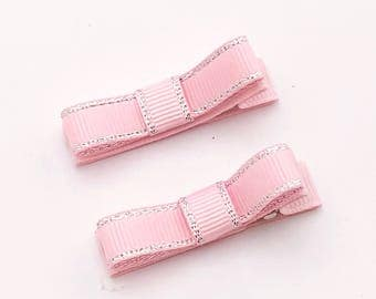 Ribbon bow hair clips