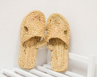 Straw sandals Thai Weaving seagrass(water hyacinth)  / handmade  boho shoes #2