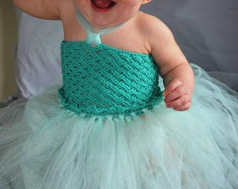 Crochet tutu dress set