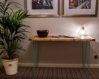 Rustic Hairpin Leg Desk Wood Dressing Sidetable Rectro kitchen Industrail