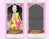 WESTERN PINK GEOFILTER  Plus Family & Friends Message   Custom Personalized Snapchat Geofilter   Girl  Birthday Party   Western Pink Bandana