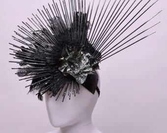 Black spikes headdress-gothic-dark queen fashion glam's