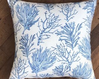 Blue Coral Cushion Cover 50 x 50