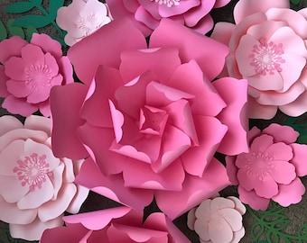 9 pc Paper Flower Nursery Set