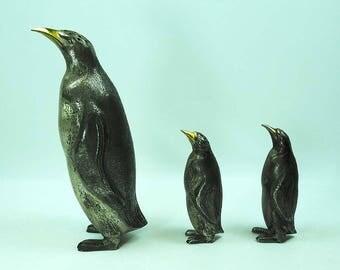 Silver Penguins Figural Salt & Pepper Shakers