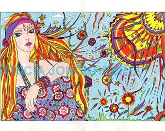 Sunshine - 70s seventies - Flower power psychedelic